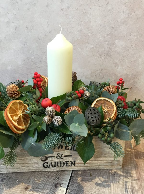 XMAS TABLE CENTER WOOD 2018